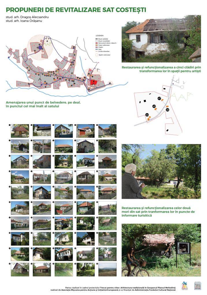 Propuneri acțiuni de valorificare sustenabilă – sat Costești